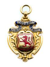 Scottish Football League Championship winner's medal awarded to Patsy Galla
