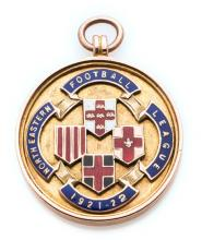 North Eastern Football League winner's medal awarded to a Carlisle United p