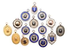A group of 15 East Riding Football Association medals, three struck in 9ct.