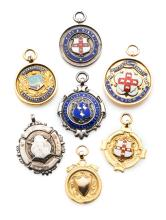 Seven medals relating to football in Yorkshire, comprising: a cased West Ri