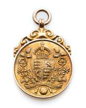 F.A. Cup runners-up medal awarded to a Manchester City player in 1933, 9ct.