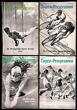 21 Berlin 1936 Olympic Games daily programmes,