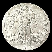 A London 1908 Olympic Games participant's medal,