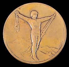 A Chamonix 1st Winter Olympic Games 1924 bronze