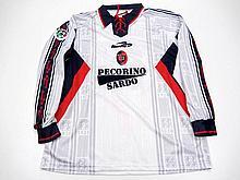 Raffaele Ametrano: a white Cagliari No.19 Serie A