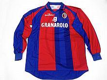 Christophe Sanchez: a blue & red striped Bologna