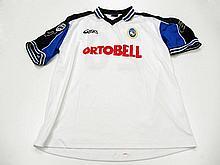 Massimo Carrera: a white & blue sleeved Atalanta