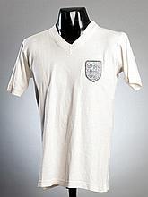 Bobby Moore: a white England No.6 jersey circa