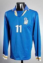 Gianfranco Zola: a blue Italy No.11 international