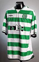 Lubo Moravcik: a green & white hooped Celtic No.25