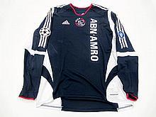 Hedwiges Maduro: a navy blue Ajax No.8 UEFA