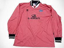 Jordi Cruyff: a salmon pink Alaves No.14 UEFA Cup