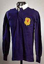 Eric Caldow: a blue No.3 Scottish Football League