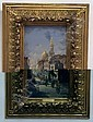 CARNIER, HENRI (1843-1901 French) ''Street In Cairo'', framed oil on wood panel, approximate image 12 3/8'' x 7'', approximate frame 19'' x 14'', signed lower right., H. Carnier, Click for value