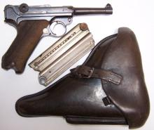 *GERMAN 1918 DATED ERFURT LUGAR & BLACK HOLSTER