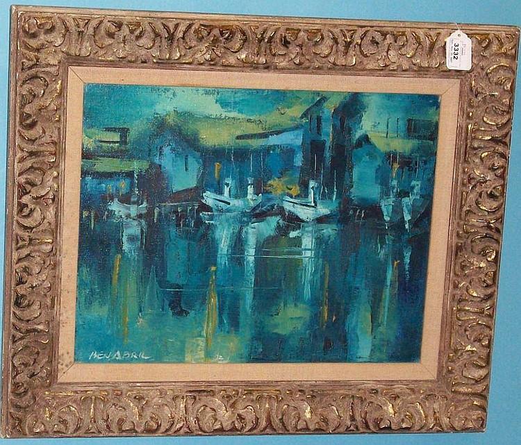 ***ABRIL BEN (1923-1995 American) ''Blue