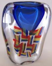 *OGGETTI ART GLASS VASE