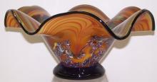 *CONTEMPORARY ART GLASS CENTER BOWL