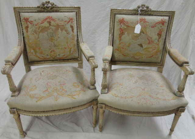 pair of late 19th c louis xvi style armchairs. Black Bedroom Furniture Sets. Home Design Ideas