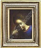 JARAIZ, JAIME DE (Born 1934 Spanish) Portrait of a young girl, framed oil on canvas, approximate image 16'' x 12'', frame 25'' x 21'', signed lower right., Jaime de  Jaraiz, Click for value