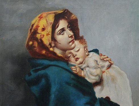 CIAPPA, Carlo, (Italian, 20th C.): Mother & Child,