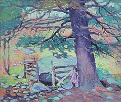 """DOROTHY EMMONS PAINTING """"AT THE SPRING"""""""