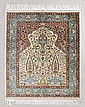 PERSIAN NAIN SILK CARPET 3'5