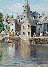 EVELYNE OUGHTRED BUCHANAN CANAL PAINTING