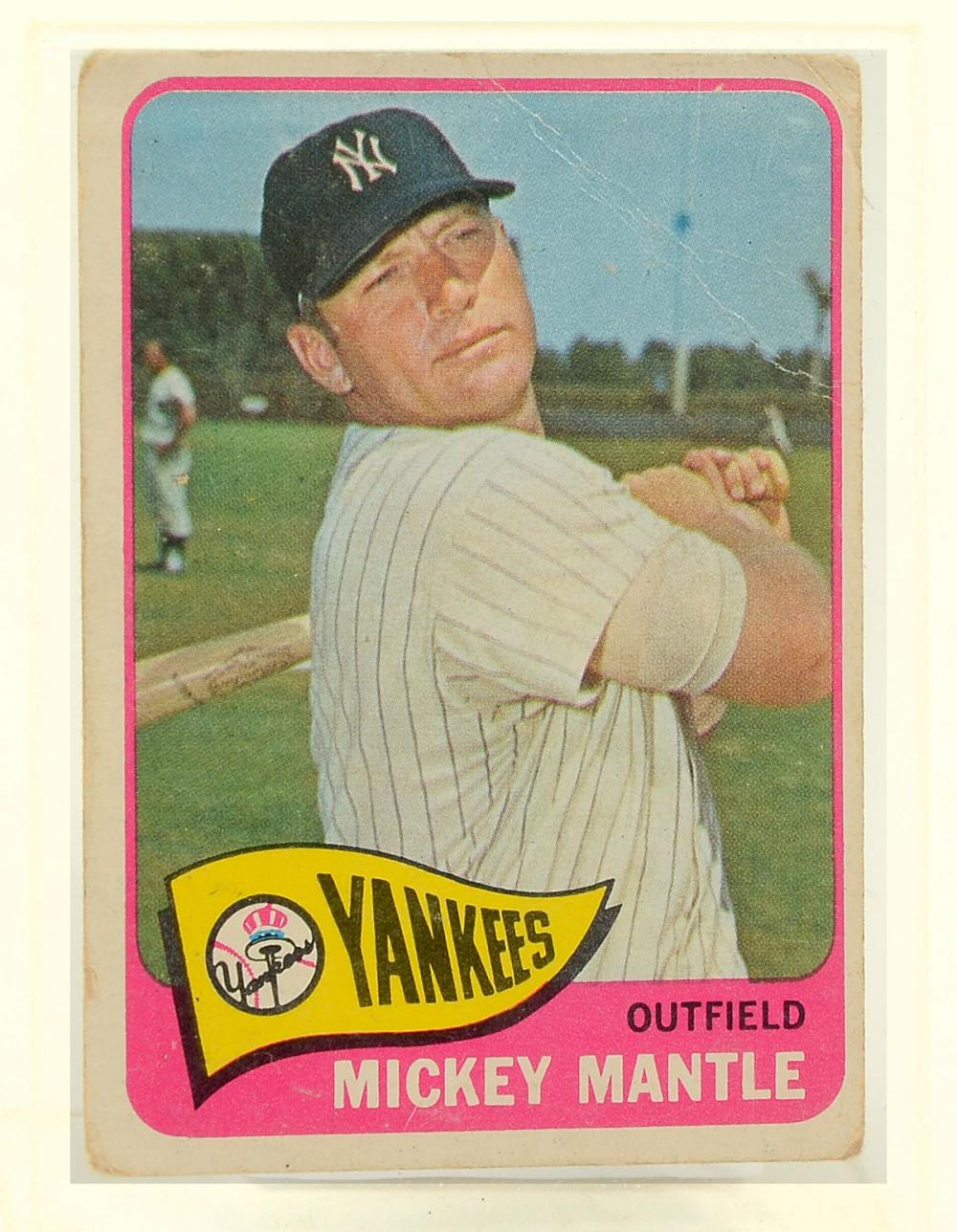 1969 1959 1965 Topps Mickey Mantle Cards