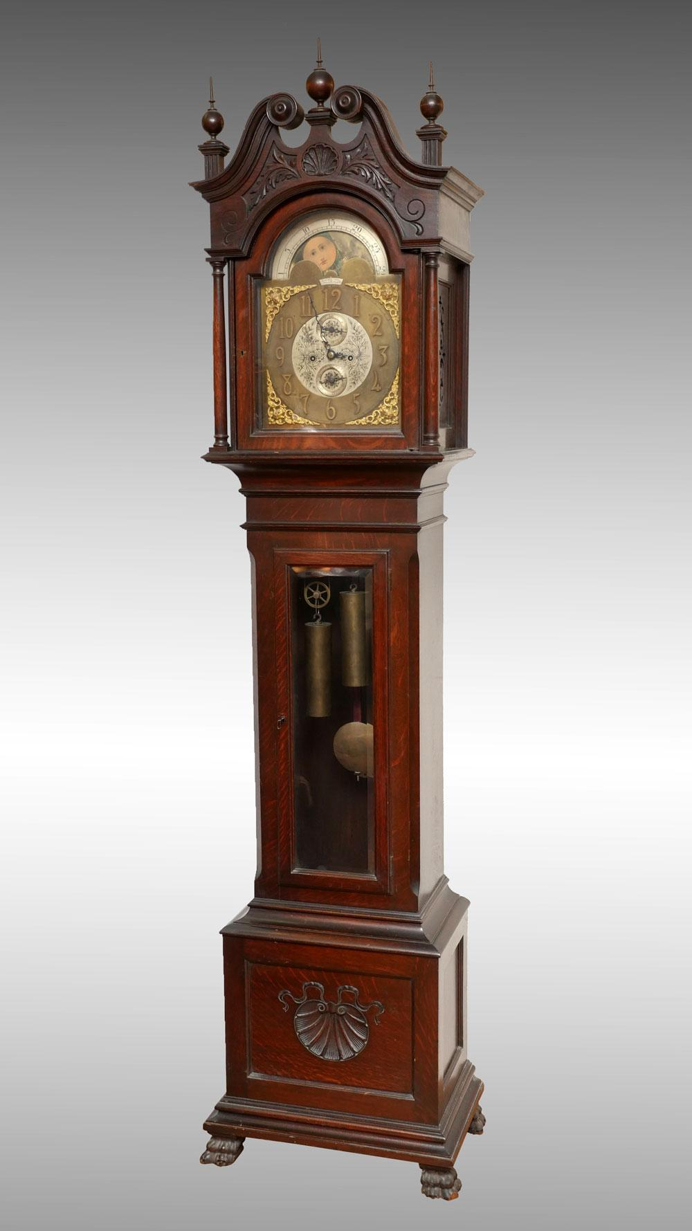 H. MUHR'S SONS GRANDFATHER CLOCK