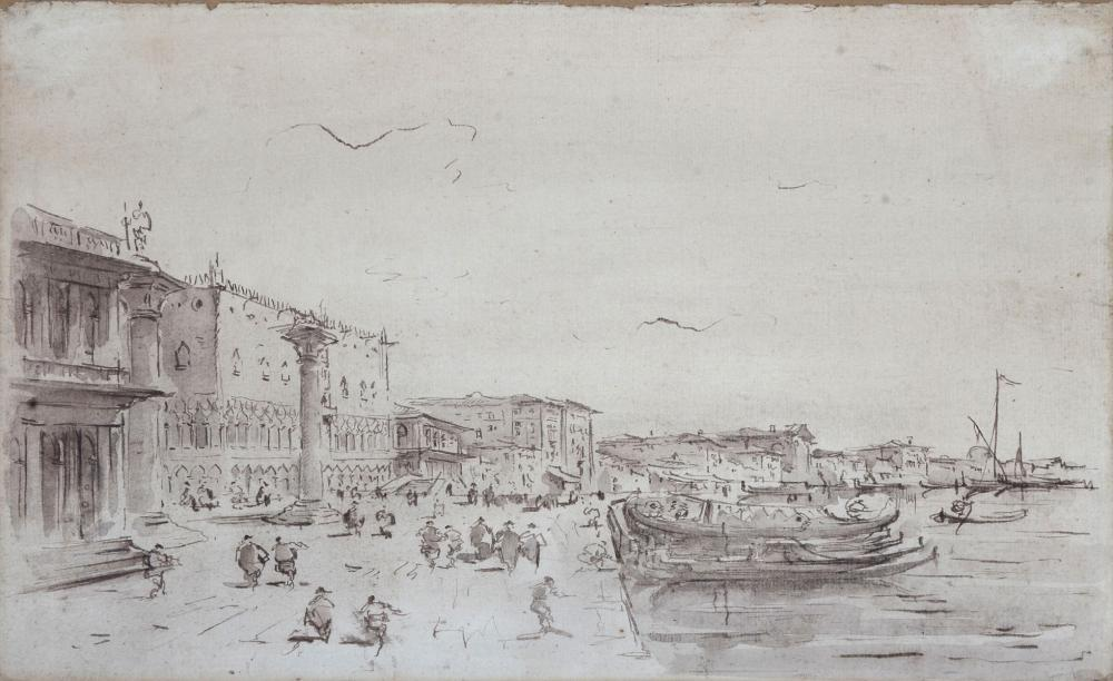 EARLY PAINTING OF VENICE IN THE STYLE OF GUARDI