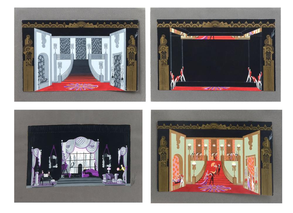 4 ORIGINAL ERTE PAINTINGS
