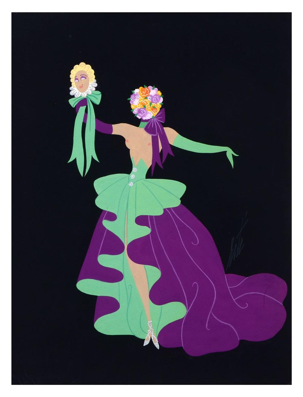 "ORIGINAL ERTE FASHION ILLUSTRATION ""LE REVE"""