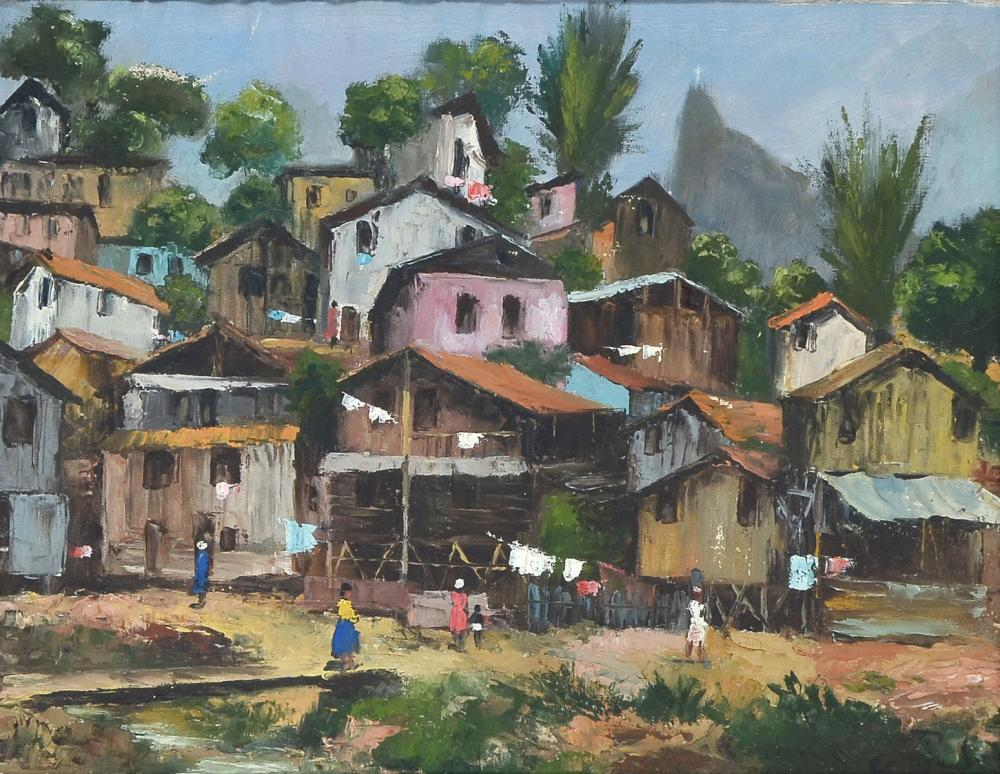 JEAN RIGUAD VILLAGE PAINTING