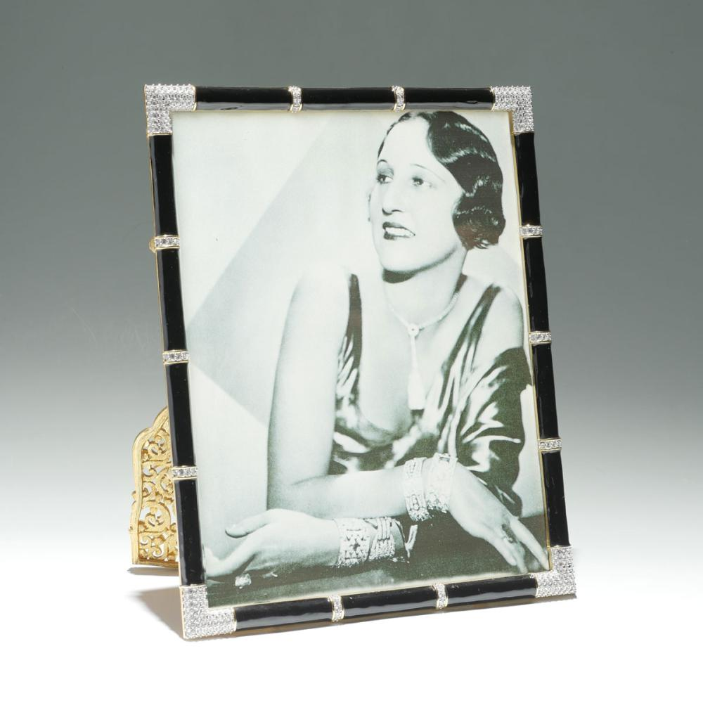 JAY STRONGWATER ENAMELED ART DECO PICTURE FRAME