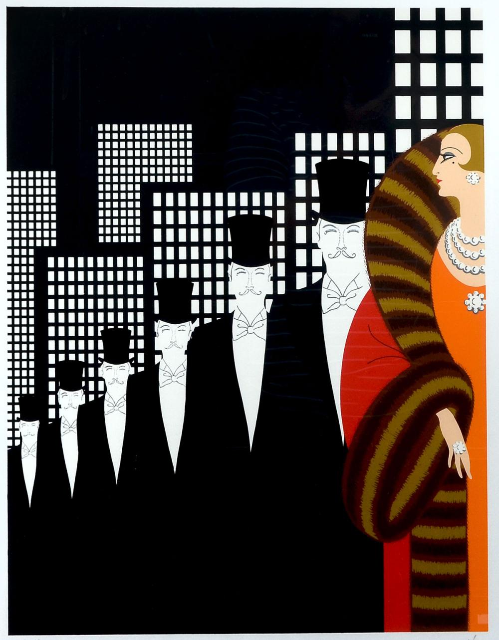 ERTE SERIGRAPH TOP HATS