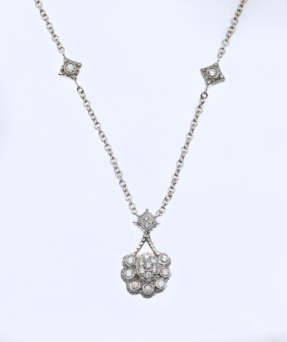 18K DIAMOND DORIS PANOS EDWARDIAN REVIVAL NECKLACE
