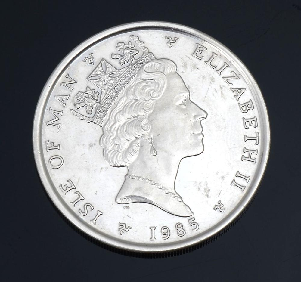 1985 ISLE OF MAN 1 OZ PLATINUM NOBLE
