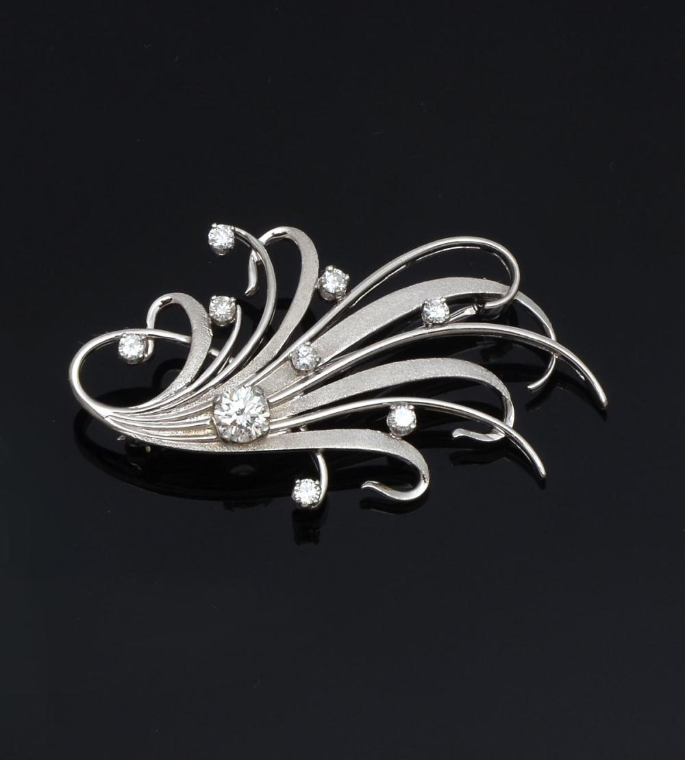 18K DIAMOND BROOCH BY JABEL CA 1960S