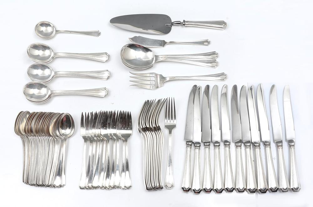 78 PC. STERL. SILVER FAIRFAX PATTERN BY GORHAM & MYATA
