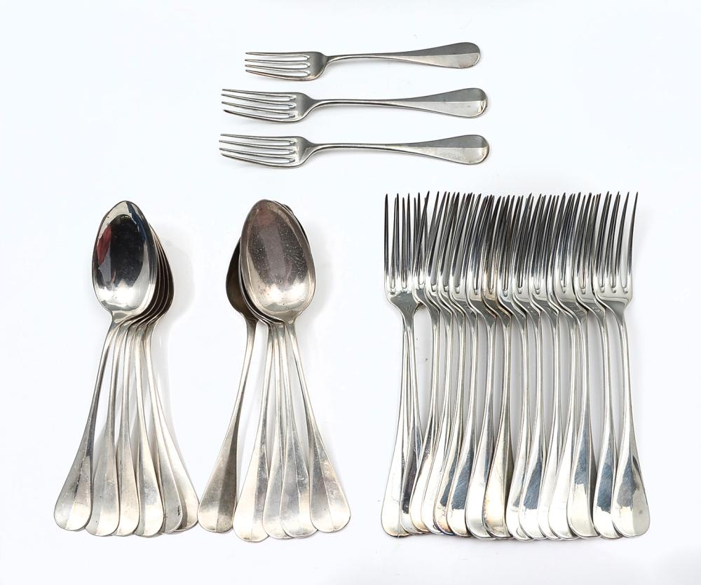 HOWARD (.900) COIN SILVER FLATWARE