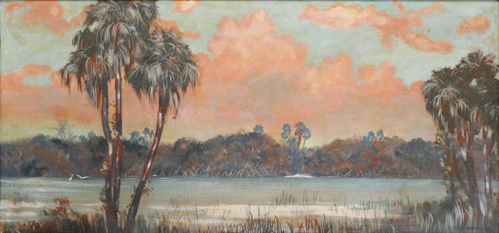 "RARE & IMPORTANT ""BEANIE"" BACKUS FLORIDA PAINTING"