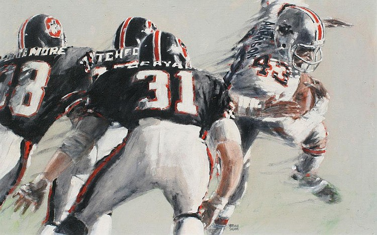 NATHAN SOLANO FOOTBALL PAINTING