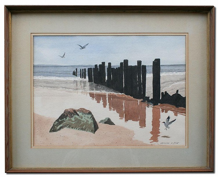 GEORGE FISH COASTAL PAINTING