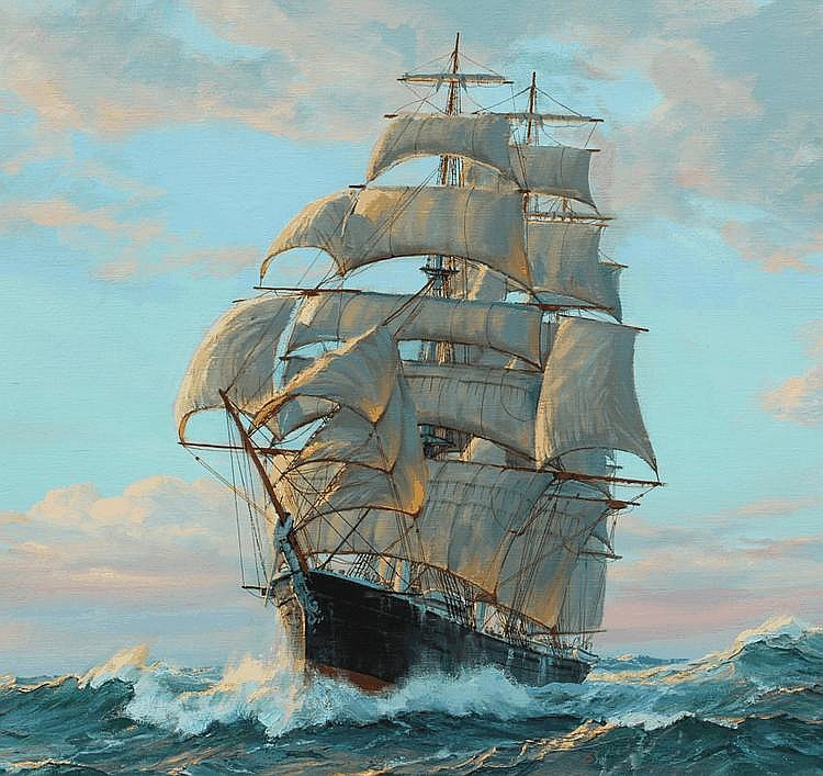 CHARLES VICKERY CLIPPER SHIP PAINTING