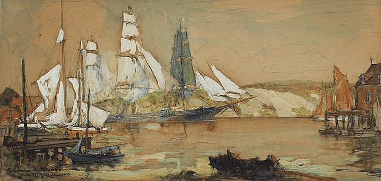 WILLIAM JAMES AYLWARD HARBOR PAINTING