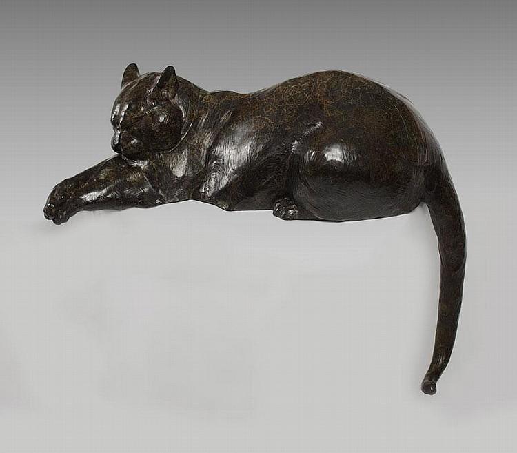 DAN OSTERMILLER CAT BRONZE MUNSEY