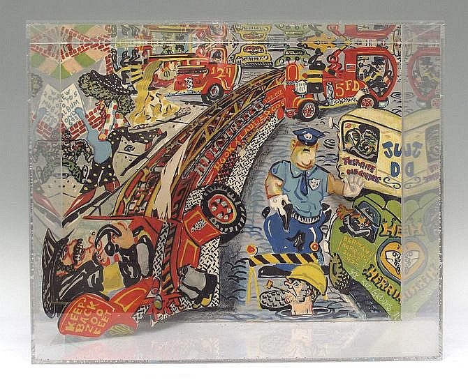 RED GROOMS AARRRRRRHH NO GAS LITHOGRAPH