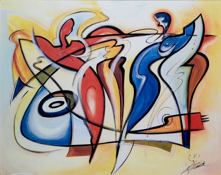 ALFRED GOCKEL ABSTRACT PAINTING