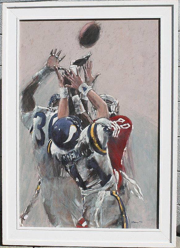 NATHAN SOLANO PAINTING NFL JERRY RICE 49ERS